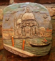 relief basilica of Health Venice 27x28 cm terracotta