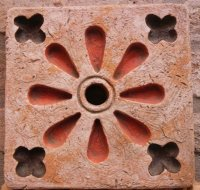 perforated tile 22x22 cm air intake or wall fountain