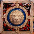 TILE LION'S HEAD MURRINE MURANO 35x35 cm