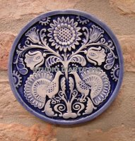 Round Tree of Life Blue 14 cm diameter