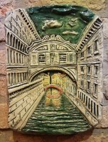 bridge of sighs ceramic underglaze polychrome 33x23 cm