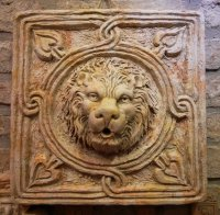 FORMELLA LEONINA LION'S HEAD FOUNTAIN 35x35cm