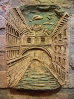 bridge of sighs polychrome terracotta 31x22 cm