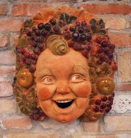 Bacchus the god of wine mask 48x38 paint by hand unic