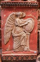 muse with wings greek roman terracotta bas 37 x 24 cm