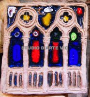 tile gothic Byzantine more 'glass and metallic luster 13x13