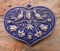 ceramic blue heart '12x10 cm